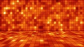 сияющий : beaming orange squares musical loopable background Стоковые видеозаписи