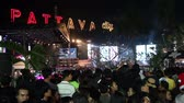 mod : PATTAYA THAILAND  DECEMBER 31 2013: People are watching show at New Year celebration