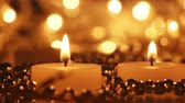 celebration : candles and christmas lights panning