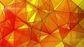 emaranhado : orange triangles web pattern. computer generated seamless loop abstract geometrical motion background. 4k 4096x2304