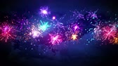 quarto : beautiful fireworks in night sky seamless loop animation 4k 4096x2304