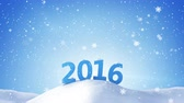 сугроб : new year 2016 sign in snow drift. Computer generated seamless loop animation. 4k 4096x2304