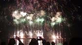 quarto : epic fireworks from boats on sea