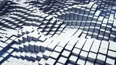 metalic : Abstract 3D rendering of metalic blocks. Seamless loop smooth animation 4k UHD (3840x2160)