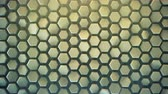 domborít : Hexagonal background. Computer generated abstract motion graphics. Seamless loop 3D render animation 4k UHD (3840x2160)