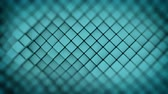 cerceta : Wall of turquoise rhombus shapes. Abstract motion background. 3D render seamless loop animation