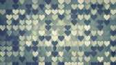 harmonia : Pattern of hearts. Abstract romantic concept. Seamless loop 3D render animation 4k UHD 3840x2160 Stock Footage