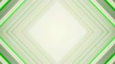 rytmický : Frame of white and green rhombic lines. Computer generated seamless loop abstract background. 3D render smooth animation 4k UHD (3840x2160)