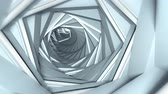 chodba : Abstract technology tunnel. Seamless loop 3D render animation 4k UHD 3840x2160
