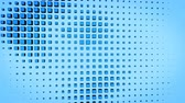 kočky : Blue cubes. Abstract geometric motion background. Seamless loop 3D render animation 4k UHD 3840x2160