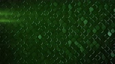 сетка : Rhombus pattern with grunge metallic green surface. Abstract computer graphic. 3D render seamless loop animation 4k UHD 3840x2160