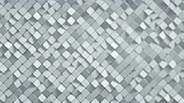 küpleri : White rhomb mosaic surface. Abstract motion background. 3D render seamless loop animation 4k UHD 3840x2160
