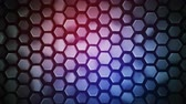 domborít : Purple abstract geometric background with hexagons. Computer generated abstract motion graphics. Seamless loop 3D render animation 4k UHD (3840x2160)