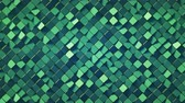 tile : Green wall with rhombus shapes. Abstract computer graphics. 3D render seamless loop animation 4k UHD 3840x2160