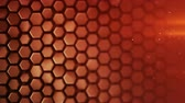vytepat : Red hexagon pattern. Modern 3D render smooth animation. Seamless loop abstract background 4k UHD (3840x2160) Dostupné videozáznamy