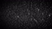 durva : Rhombus pattern with rough metallic dark grey surface. Abstract computer graphic. 3D render seamless loop animation 4k UHD 3840x2160