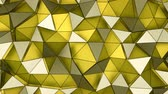 üçgen şeklinde : Low poly layered yellow surface. Abstract geometric background. Seamless loop 3D render animation