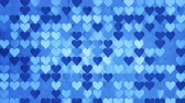 san valentin corazones : Pattern of blue hearts. Abstract romantic concept. Seamless loop 3D render animation 4k UHD 3840x2160