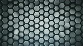 domborít : Abstract geometric grey background with hexagons. Computer generated abstract motion graphics. Seamless loop 3D render animation 4k UHD (3840x2160) Stock mozgókép