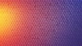 domborít : Wall of small hexagons. Computer generated abstract motion background. Seamless loop 3D render animation 4k UHD (3840x2160) Stock mozgókép
