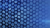 domborít : Blue hexagon pattern. Modern 3D render smooth animation. Seamless loop abstract background 4k UHD (3840x2160)
