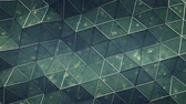 공학 : Polygonal structure with sci-fi texture. Abstract futuristic technology design. Seamless loop 3D render animation 무비클립