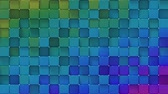 Bright colorful spectrum blocks. Abstract motion graphics. Seamless loop 3D render animation