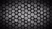Grey hexagonal background. Computer generated abstract motion graphics. Seamless loop 3D render animation 4k UHD (3840x2160)