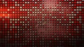 Red cubes appear on a plane. Abstract dynamic background. Seamless loop 3D render animation