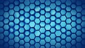 domborít : Blue abstract geometric background with hexagons. Computer generated abstract motion graphics. Seamless loop 3D render animation 4k UHD (3840x2160)