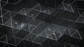 공학 : Triangular black surface with sci-fi texture. Computer generated abstract motion background. Seamless loop 3D render animation 무비클립
