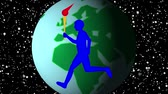 Torch runners are running all over the world to hold international sports competitions.