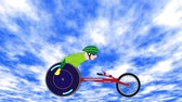 Wheelchair Racer Stok Video