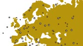 virussen : Image video of virus infection spread throughout Europe