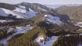 Словакия : Slovak ski resort Jasna. Sunny winter day. Aerial view