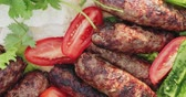 lavash : lula kebab from lamb with vegetables