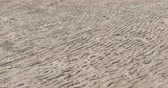 dunas : Slow motion wind blows sand on a beach at midday