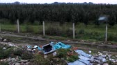 terraço : orchard near dump trash by the road