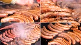schab : Grill Sausages ...4K collage multiscreen