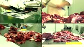 schab : Raw Meat Factory Butchers ...4K collage multiscreen