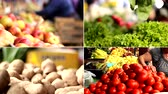 de baixa caloria : Vegetable market Stock Footage