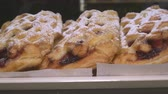 sekaná : Sweet puff pastry in the shop bakery market