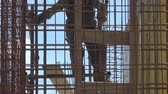 workers on construction building site
