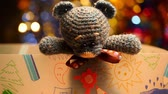 crochê : Wool Bear Studio work Stock Footage