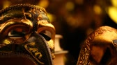 fetiš : mask gold bokeh hd footage