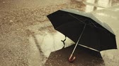 bystřina : umbrella rain snow asphalt background hd footage Dostupné videozáznamy
