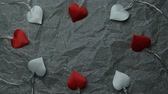 heart garland parchment paper background hd footage