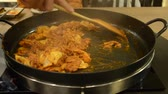 stirfry : How to cook Korean cuisine called Dak galbi step 3, stir-frying all ingredients