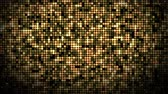 lentejoula : Seamless abstract spangle optic golden color flood lights pattern glowing and glittering in space background in 4k ultra HD loop Vídeos