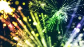 blasting : Seamless Animation of colorful fireworks blasting beautiful light pattern in close up and distant blurry range with in dark night isolated background or celebration concept in 4k ultra hd loop